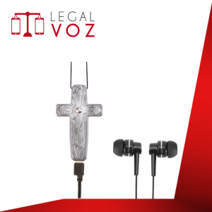 Grabadora de audio collar crucifijo